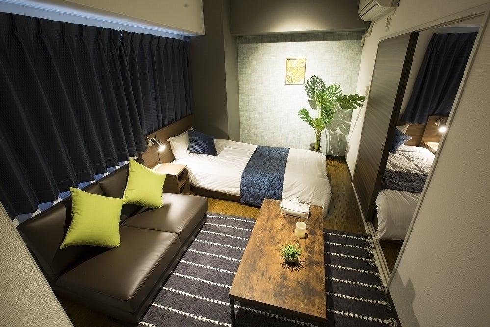 【e-stay namba(D)】ご好評によりスペース追加★2LDK完全個室★広々空間でゆったり★家具家電あり★駅徒歩3分♪ の写真