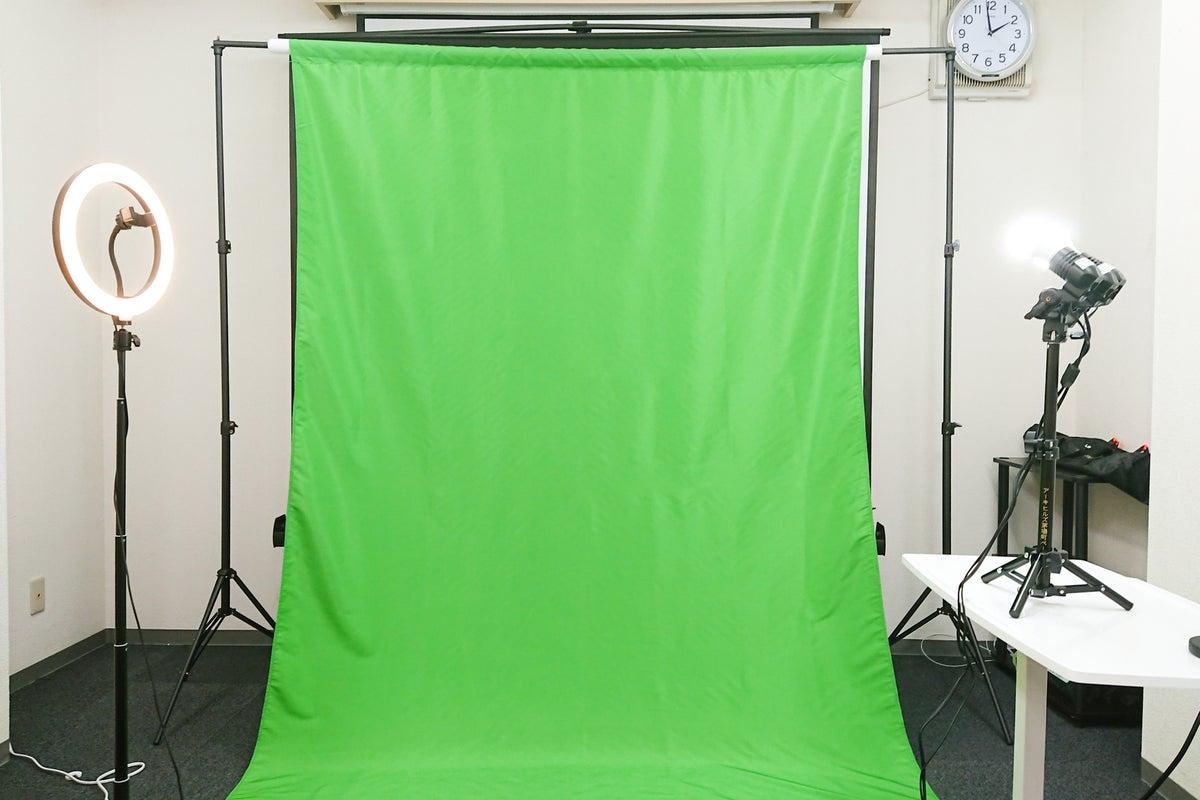 【茅場町・八丁堀】クロマキー合成を利用できる配信スタジオ<NURO光導入>感染防止対策を実施しています。 の写真