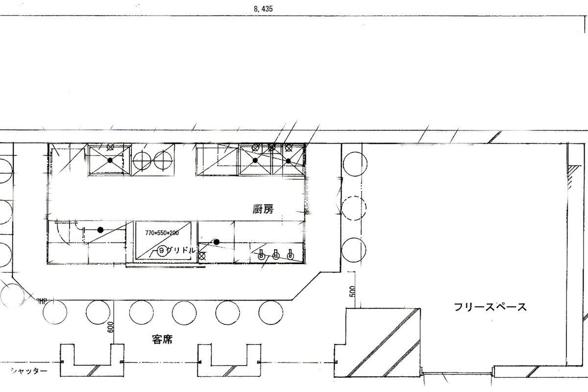 新宿近辺 (東新宿) 1F路面店 カフェ レストラン バー スタジオ (カウンター有) の写真