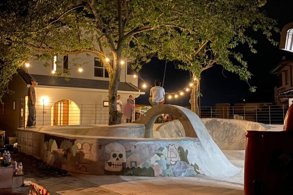 海外のようなスケートボードパーク の写真