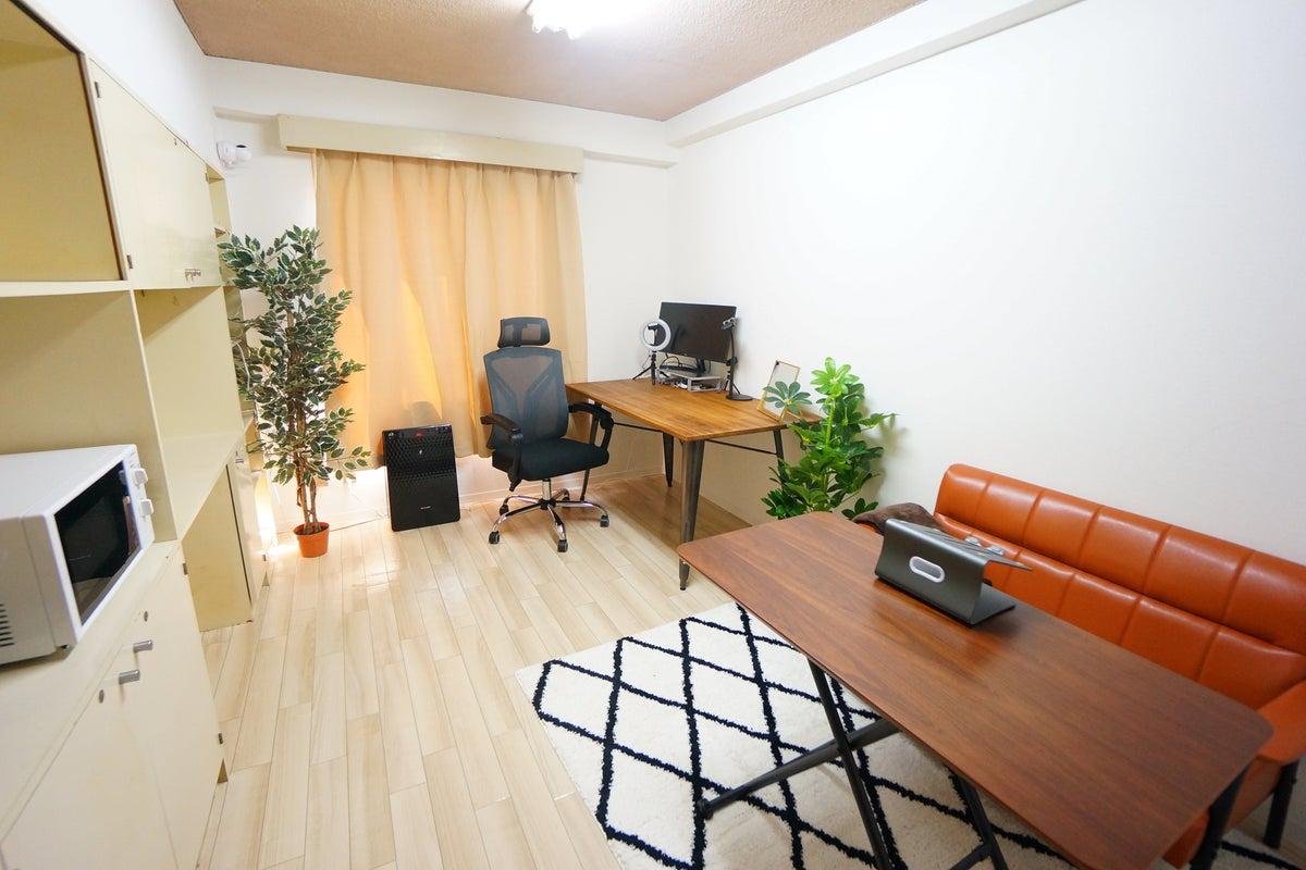 <名古屋東ワークオフィス836>完全個室✨光回線Wi-Fi、ワイドモニターあり!テレワーク/Web会議,面接 の写真