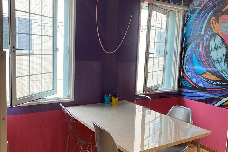 4人用会議室(NYルーム)スタイリッシュなニューヨーク風ミーティングルーム。遮音性が高くWEB会議・ワークショップにもぴったり の写真
