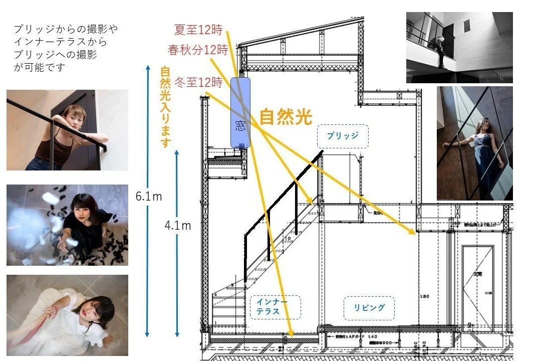 【天井高6.1m 自然光】デザイナーズ ハウススタジオLoop❽ 荻窪駅 徒歩12分 ~写真・映像撮影に~ の写真
