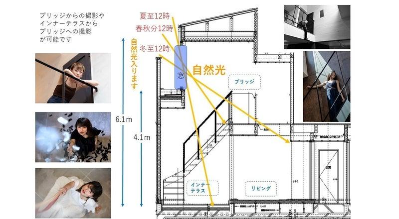 【天井高6.1m 自然光】デザイナーズ ハウススタジオLoop❽ 荻窪駅 徒歩12分 ~写真・映像撮影に~