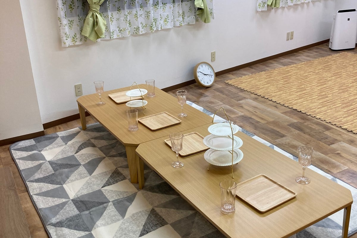 【レンタルスペースはぁたん家🏡】設置物全て使用無料♾女子会/ママ会/パーティー/その他教室🌈消毒清掃でコロナ対策もバッチリです😊 の写真