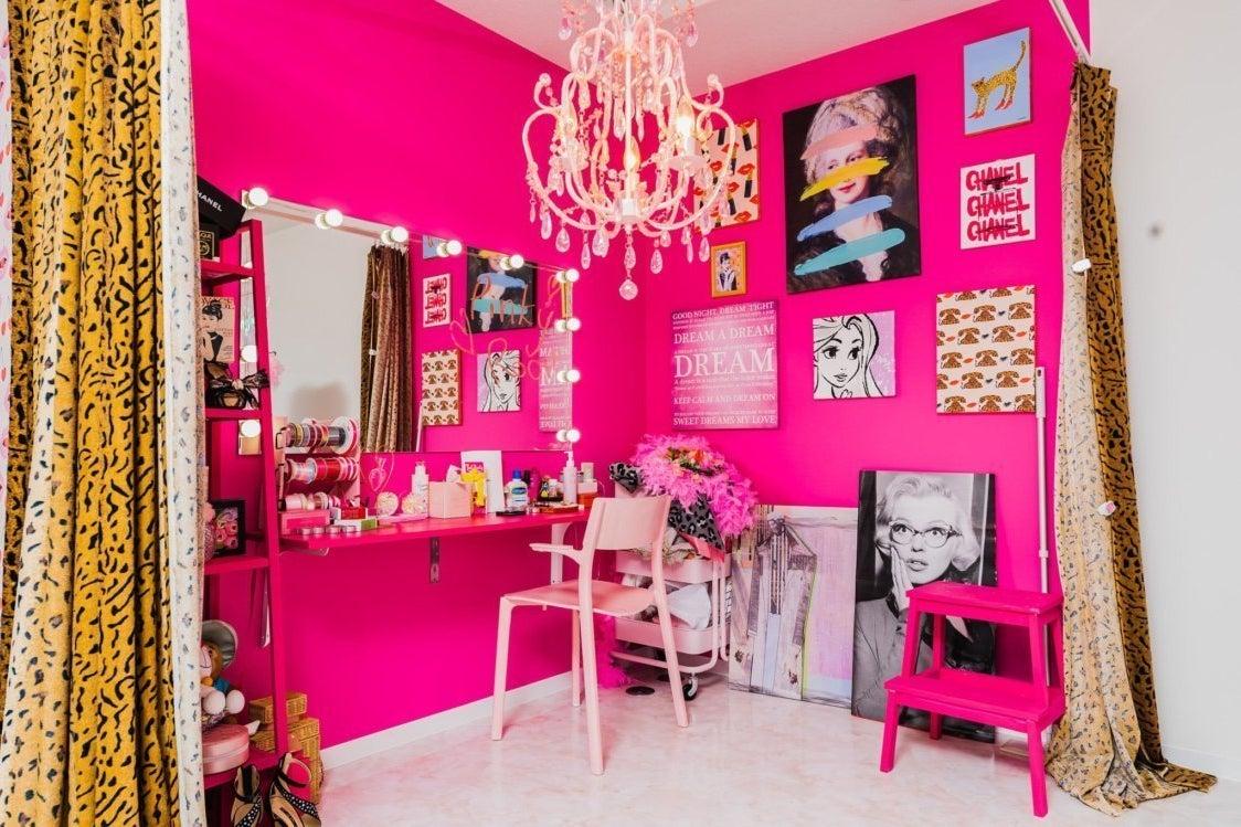 ピンクのプリンセス空間。ヘアメイク撮影・ポートレート撮影・コスプレ撮影・女子会に の写真