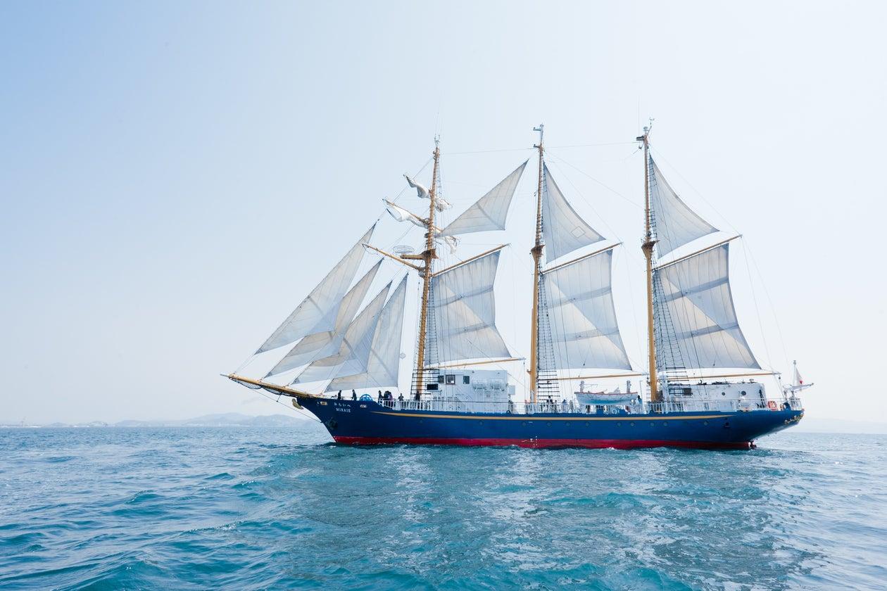 誰もが自由に乗ることができる、唯一の本格的な帆船「みらいへ」です。(帆船「みらいへ」) の写真0