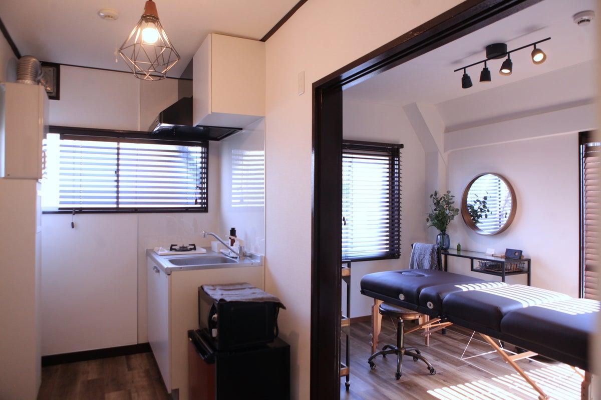 【オープン特価】二子玉川駅から4分!完全個室のプライベートレンタルサロン🌱素敵な空間&多機能リラックスベットで癒しの時間を✨ の写真