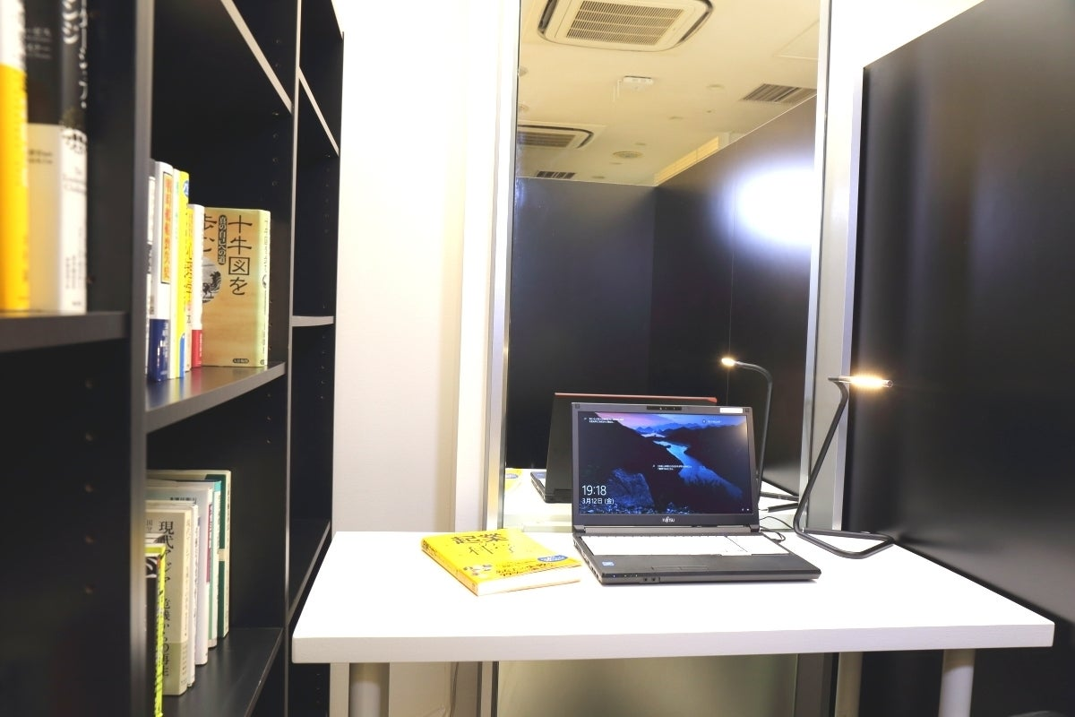 プライベート空間の半個室【ソロブース】新神戸駅直結の豪華ホテルロビー階! の写真