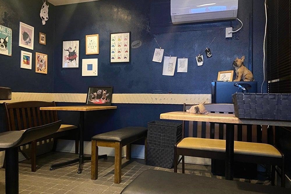 18時から、cafe&barとして通常営業をしている空間です。フレンチブルドッグがモチーフとなったインスタ映えする癒し空間✨ の写真