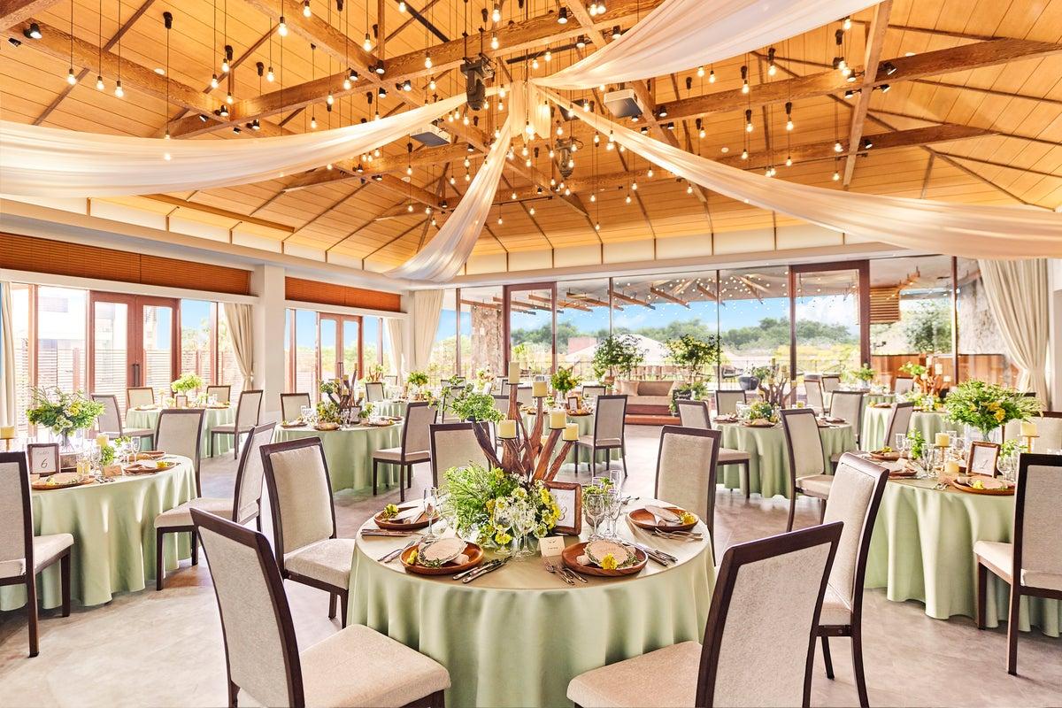 【千葉みなと駅7分】撮影やレセプションパーティーに適した緑溢れるオープンテラス付きイベントスペース(プルメリア) の写真