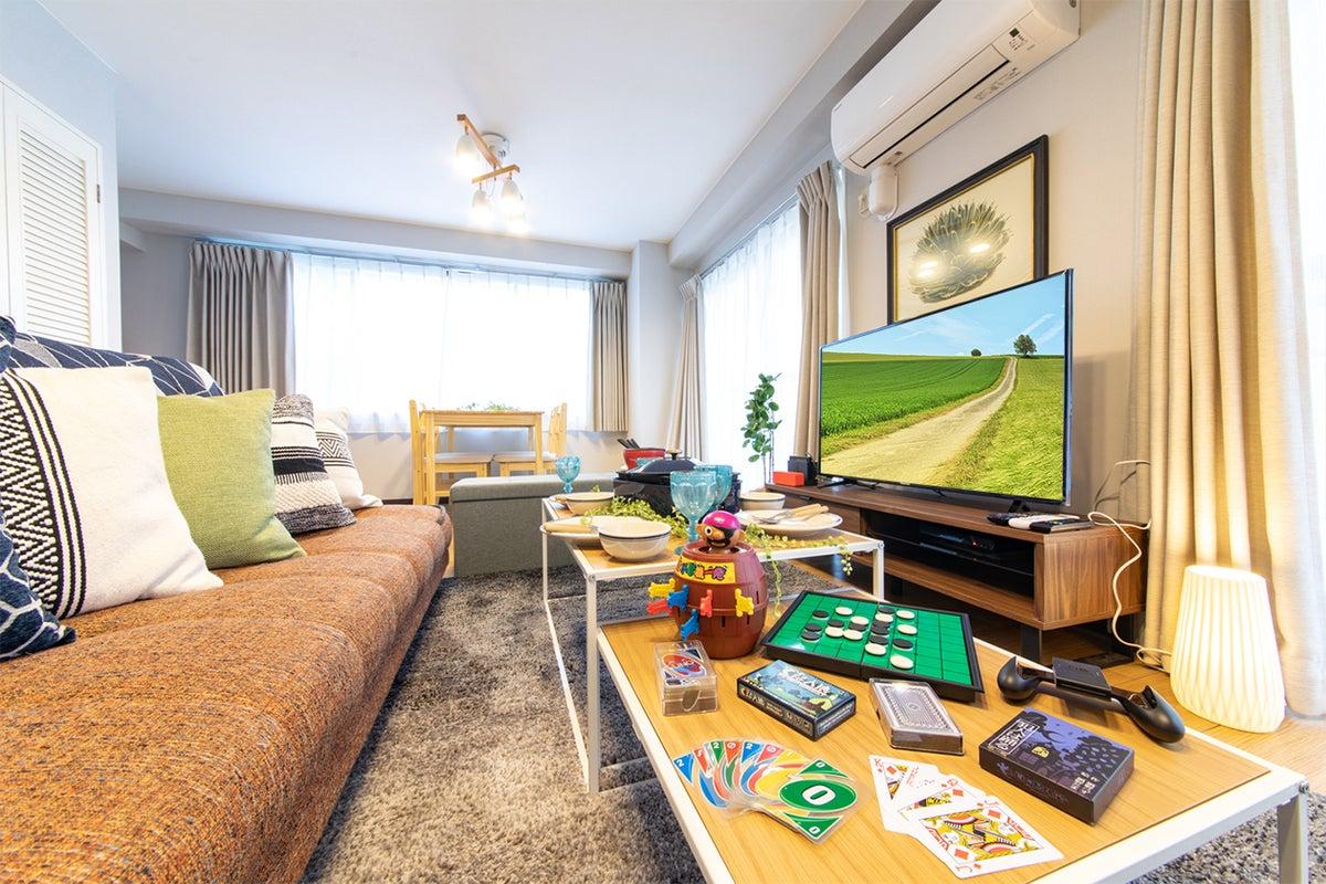 123_fika麻布十番2nd🎃秋割🍁駅チカ😍広々30㎡🍷43型TV📺大人気ゲーム機🎮Netflix視聴可👀ゴミ引取無料🉐 の写真