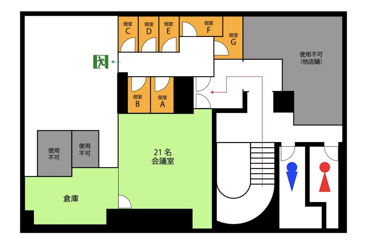 OPENキャンペーン中✨<ODAKYU RENTAL SPACE 本厚木個室D>本厚木駅直結!WiFi/モニター有/Web会議 の写真