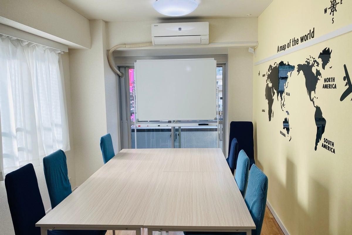 貸し会議室、テレワーク に最適!駅至近!完全個室⭐️除菌グッズ常備⭐️窓2面あり⭐️即予約可 の写真