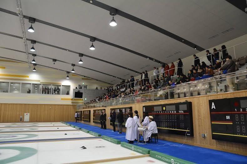 【軽井沢】カーリング場でビジネス研修&チームビルディング・社内運動会利用はいかが? の写真