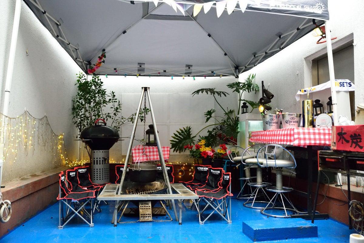 【東京・都心・新宿】都心でBBQができるテラス(3F)!変幻自在空間「コミュニティーハウスP」 の写真