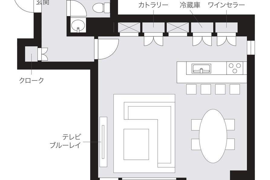 【55型TV・カウンターキッチン付き】高級感のあるホームパーティースペース 清掃不要・深夜も利用可能 みんなで楽しいひと時を♪ の写真