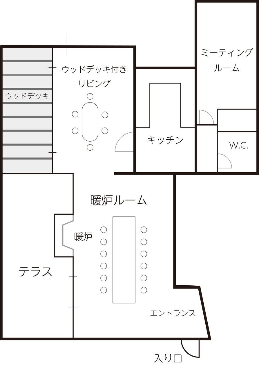 【 渋谷/代々木上原/駒場東大】CMやテレビにも多数登場!口コミ4.9以上!!暖炉つき広々リビングと独立キッチンのあるスペース。 の写真