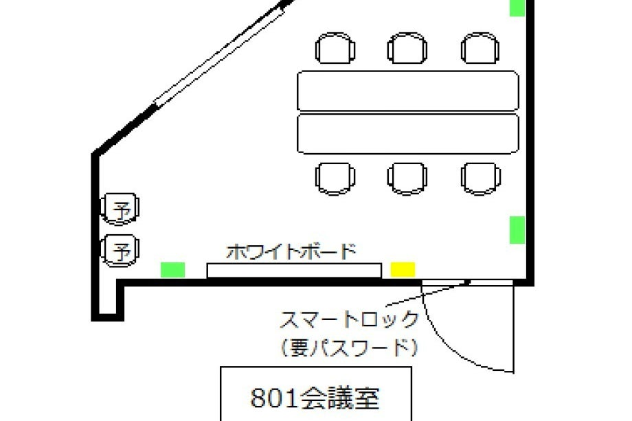 【天神駅徒歩2分】定員8名!プロジェクター含む備品・高速Wi-Fiが無料!801会議室 の写真