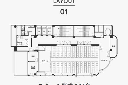 ●駅0分 コンビニ1分 天井高5m 9階で眺望良い  セミナー、展示会、パーティーも可能 平日限定プラン の写真