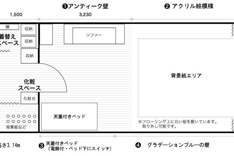 リーズナブルに撮影出来る京都四条大宮レンタル撮影スタジオ LS STUDIO の写真