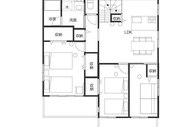 駅から徒歩6分/ 新築の3LDKのお部屋 / ラグジュアリールーム の写真