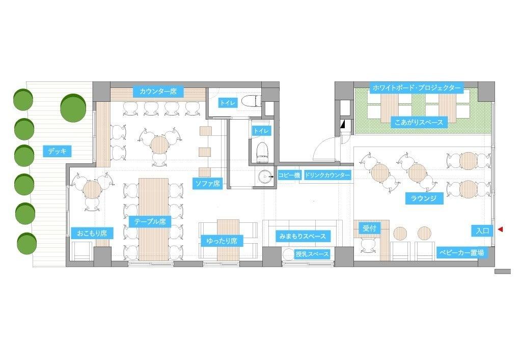 打ち合わせやイベント、ワークショップなどに利用できる多目的スペース の写真