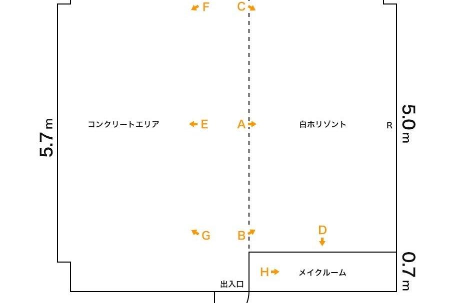 激安白ホリスタジオ、撮影機材無料、美しいコンクリート壁、天井高4m【新宿三丁目駅徒歩3分】 の写真