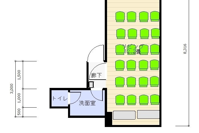 ♬CP実施中♬【神田東口徒歩1分】24H換気&空気清浄機導入/テレワーク・セミナー・ダンス利用多!大型ミラー設置!16名着席 の写真