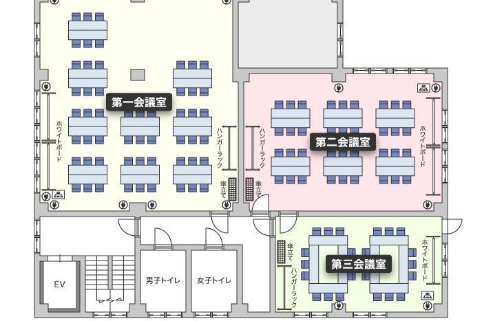【鶴見駅徒歩1分Wi-Fi完備】鶴見駅前ホール(第一会議室) / 鶴見 会議室 の写真