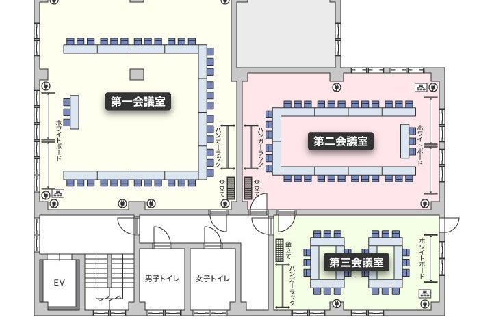 【鶴見駅徒歩1分Wi-Fi完備】鶴見駅前ホール(第二会議室) / 鶴見 会議室 の写真