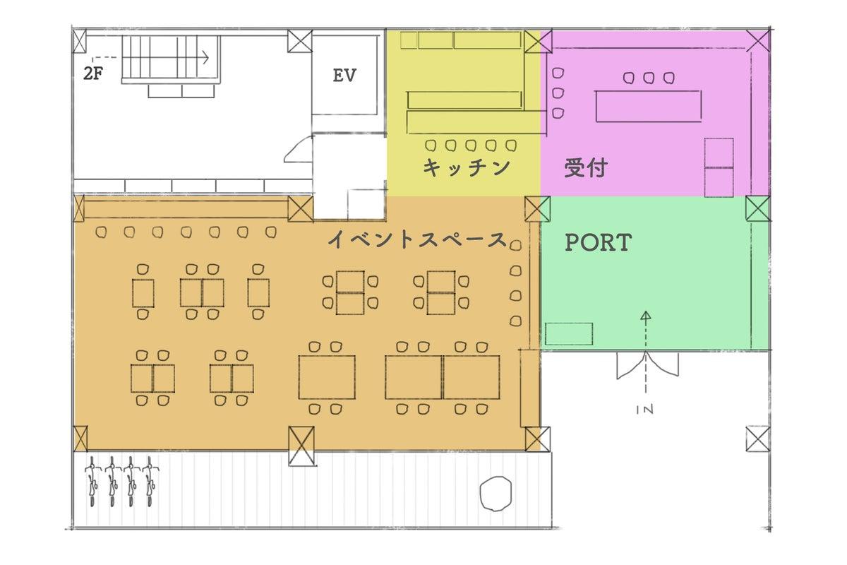 【上野御徒町エリア】新御徒町駅から徒歩1分、カフェのようなおしゃれスペース!キッチン/Wifi/セミナー/撮影 の写真