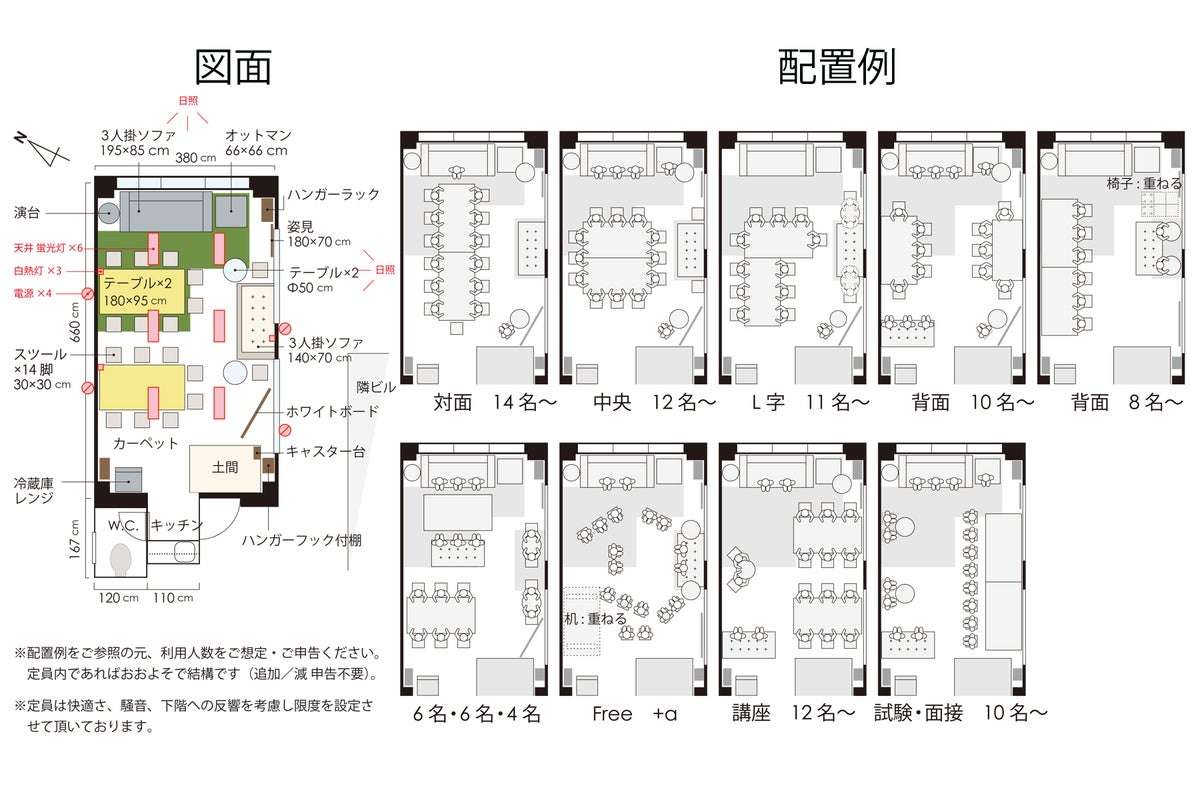 【飯田橋駅5分✨会議・パーティー会場・ボドゲ】16名迄/Wi-Fi無料/24h Sabori の写真