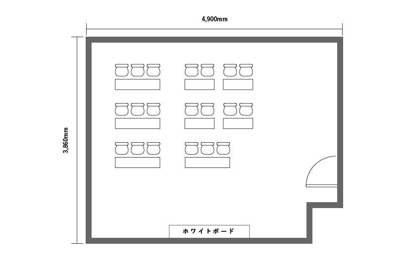 【旭橋駅徒歩3分】定員20+α名!プロジェクター含む備品・高速Wi-Fi無料!泉崎402会議室 の写真