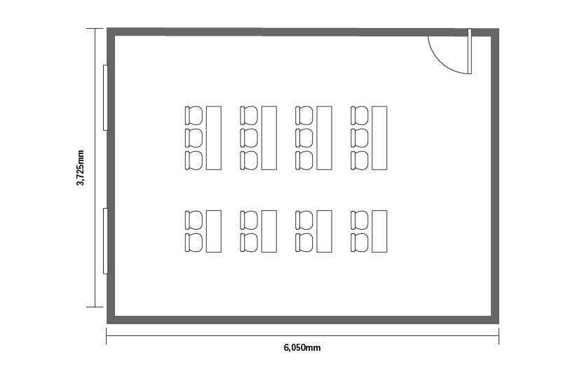 【旭橋駅徒歩3分】定員20+α名!プロジェクター含む備品・高速Wi-Fi無料!泉崎601会議室 の写真