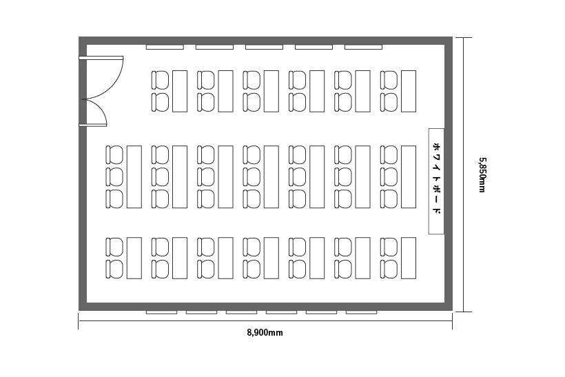 【旭橋駅徒歩3分】定員47+α名!プロジェクター含む備品・高速Wi-Fi無料!泉崎701会議室 の写真