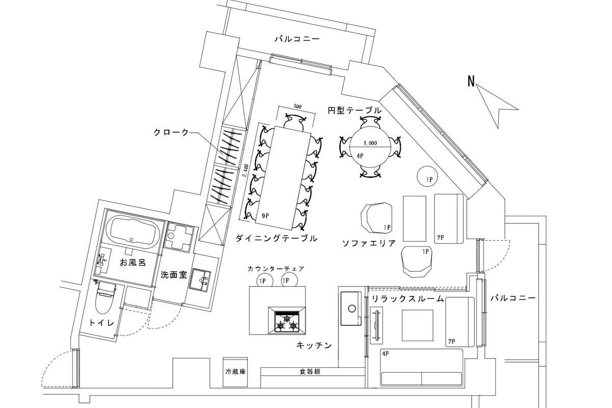 【CLOCK大阪】オリジナルキッチン・リラックススペース完備のリノベーションデザインスペース(肥後橋) の写真