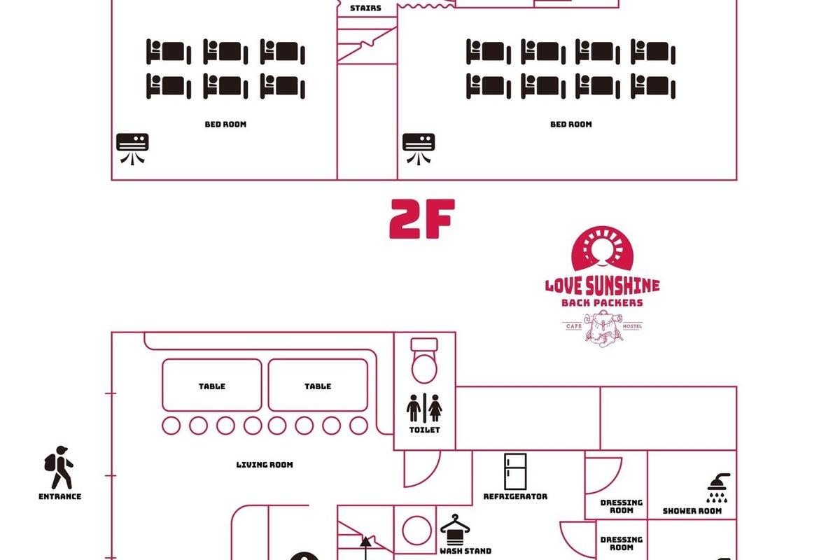 東京浅草カフェ1軒貸切。最大14名宿泊可。パーティスペース。女子会、展示会、旅行、研修、2次会に最適 の写真