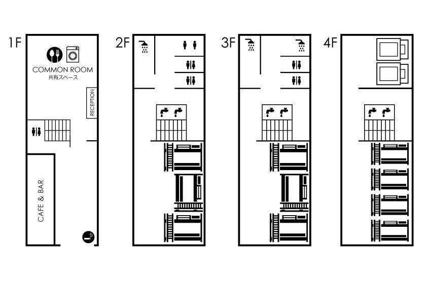 【JR京橋】【新築一棟貸し切り】近代建築デザインゲストハウス/合宿/オフ会/撮影/ボドゲ の写真