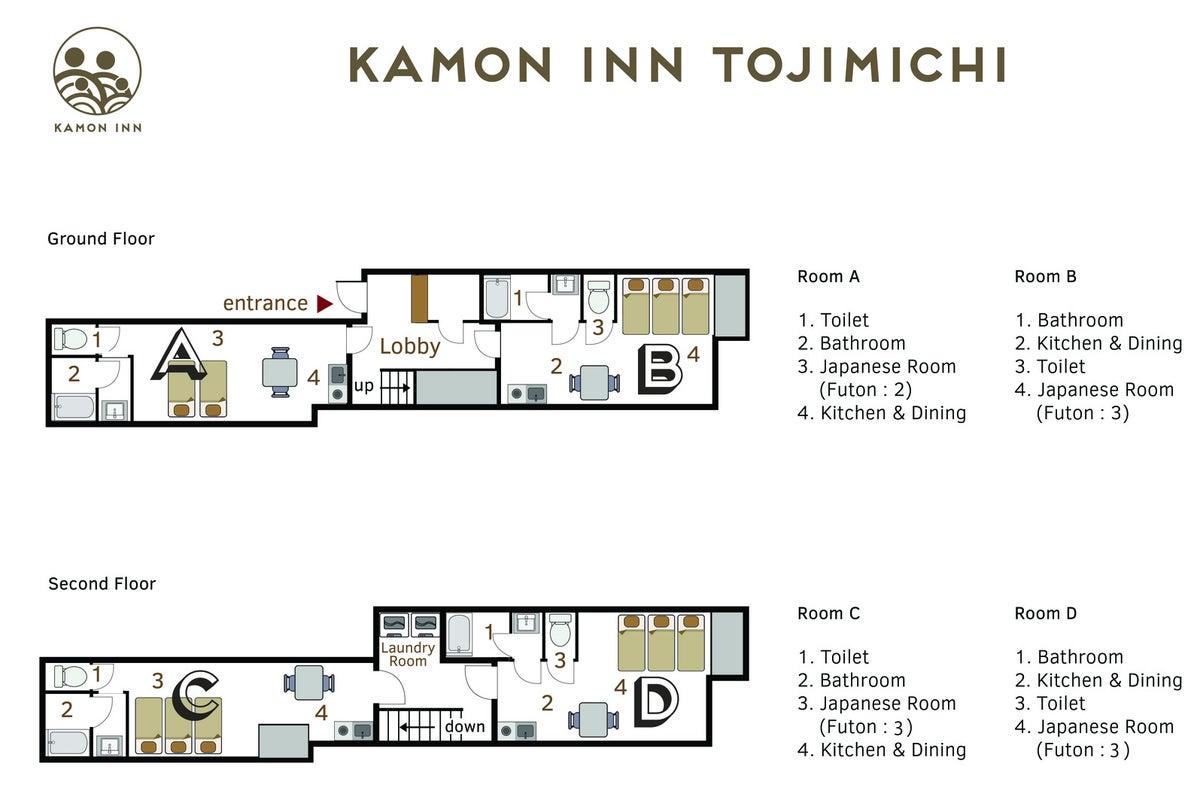 少人数でも癒しの空間を、セカンドハウス利用がオススメです 〜Kamon Inn Toji Michi〜 の写真