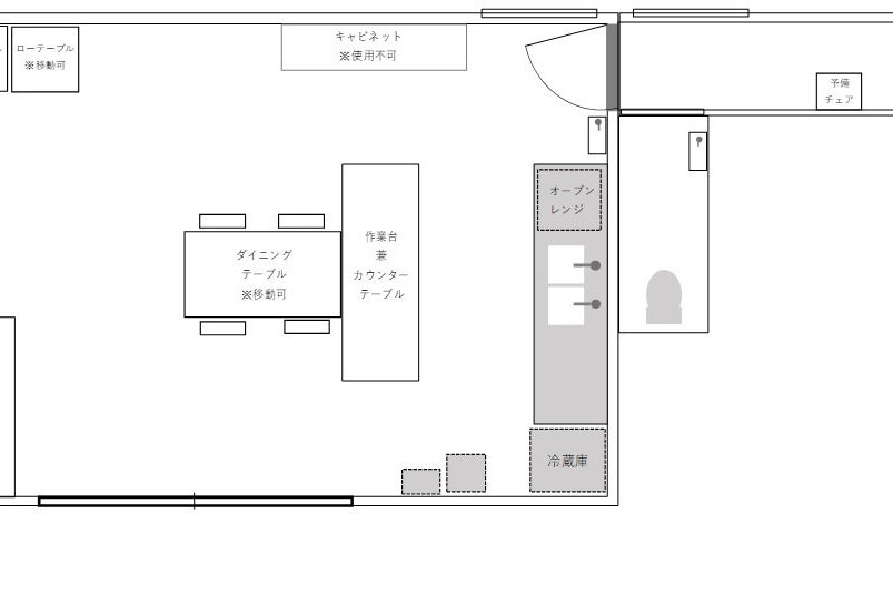キッチン付戸建スペース☆教室・パーティ・撮影会・マルシェ準備などに☆駐車場完備 の写真