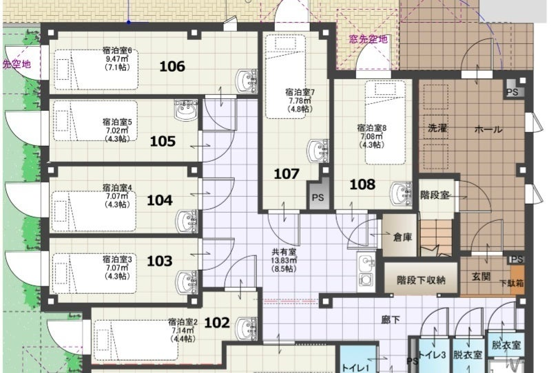 都会のオアシス最新シェアハウスで仕事効率抜群テレワーク<高松Ⅱ-103:7㎡> の写真