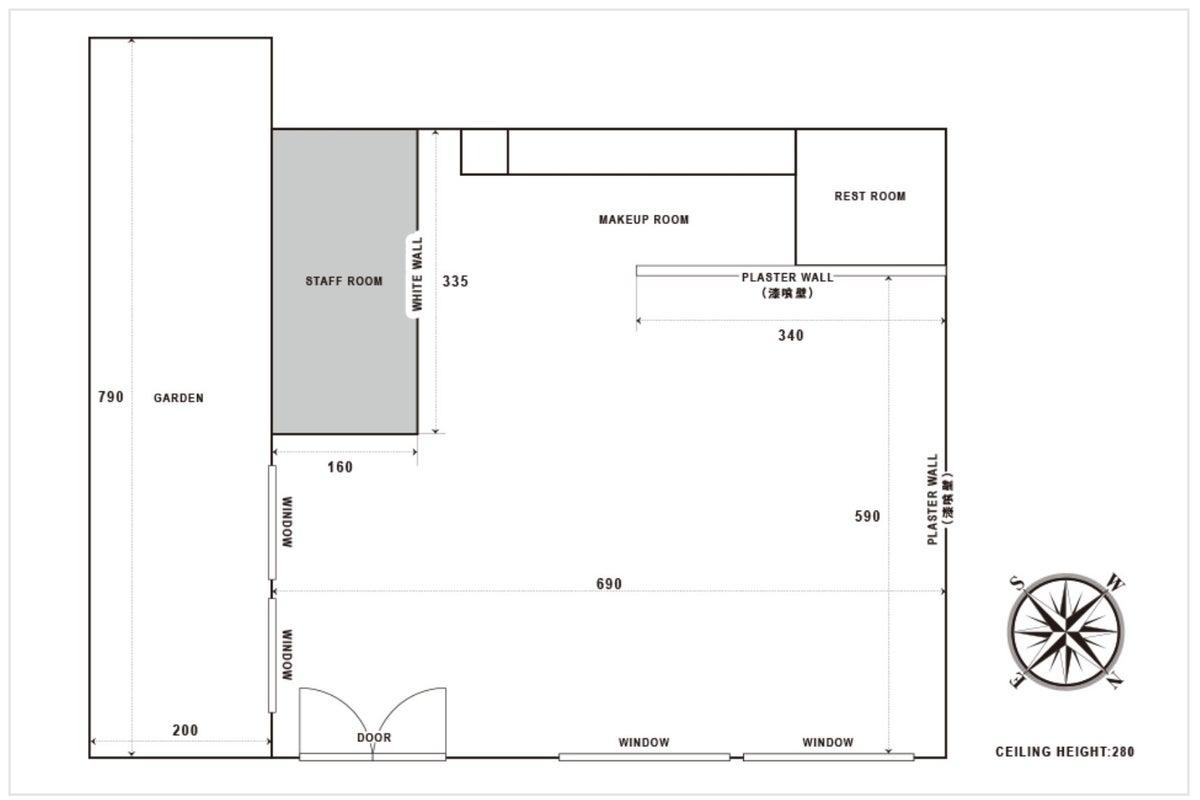 STUDIO67 Enzo 白を基調としたシャビーで ナチュラルなスタジオ! 無料機材・ペーパー垂らし無料! の写真