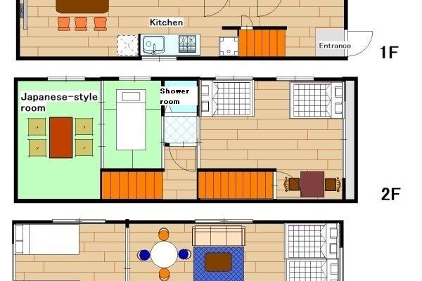 難波まで6分 最寄り駅から徒歩3分 お洒落な1軒家貸切 最大16名まで宿泊可能 の写真