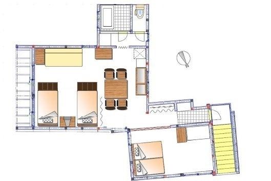 【新宿ガーデンハウス・ユニット2】広々60㎡。梁のある部屋。別荘気分。駐車場2台&WIFI完備。 の写真