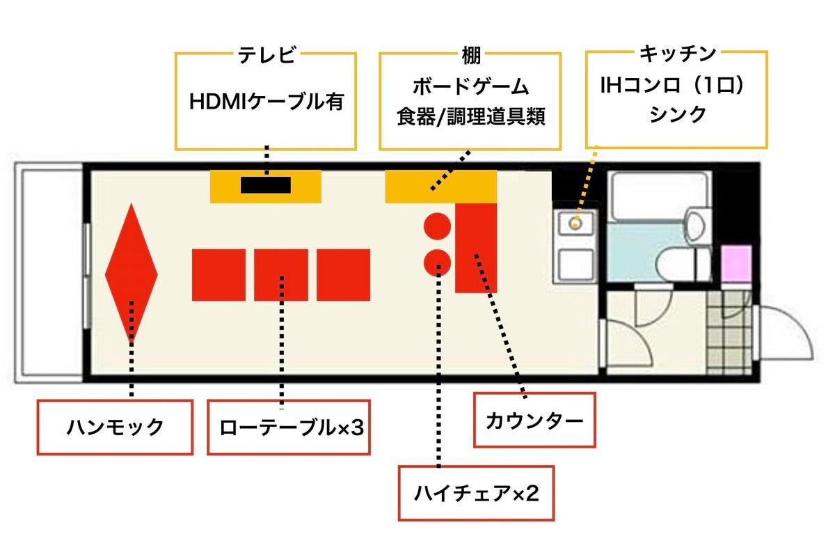 Chill City House 下北沢|芝生&ハンモックでおうちグランピング&ボードゲーム の写真