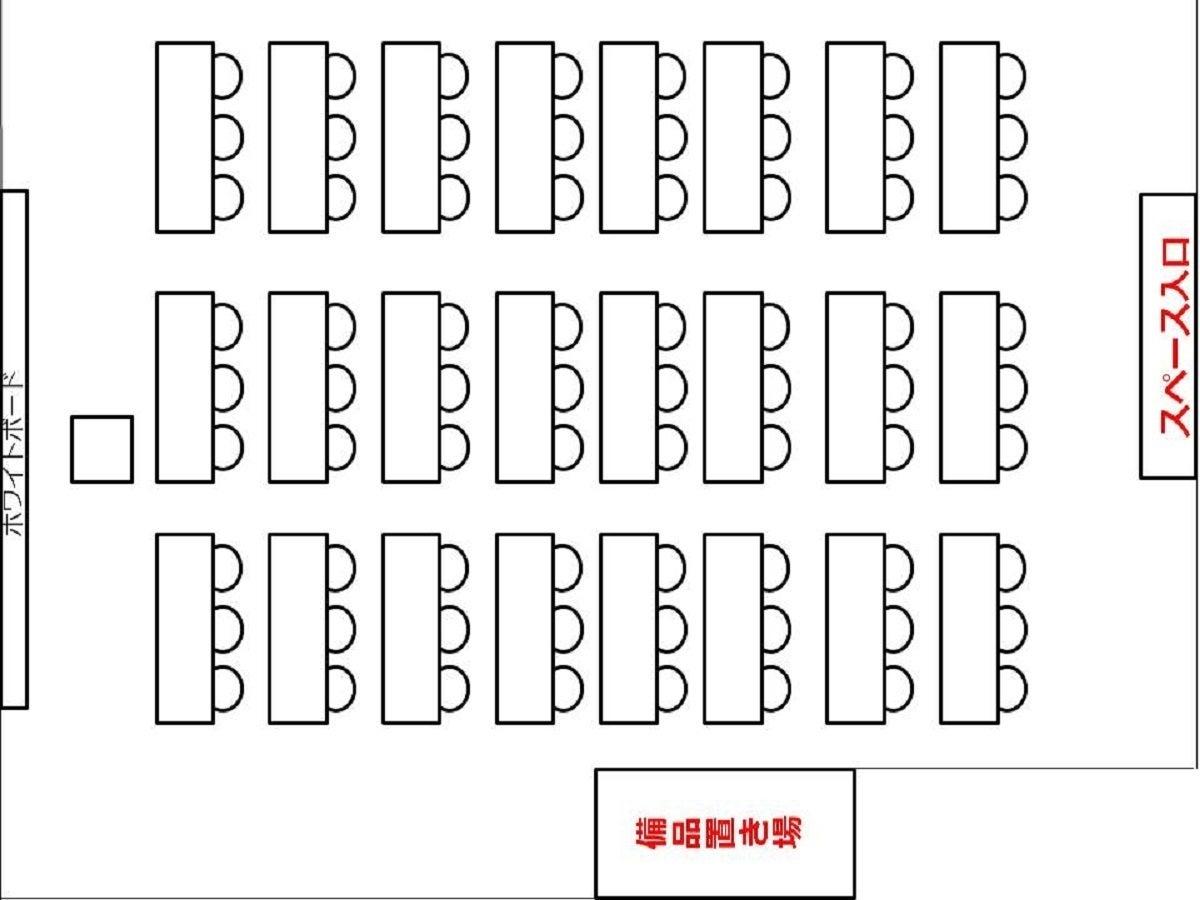 大阪 梅田 東梅田 駅近 徒歩6分 80名収容格安レンタルスペース貸会議室【NEW OPEN記念格安セール中】 の写真