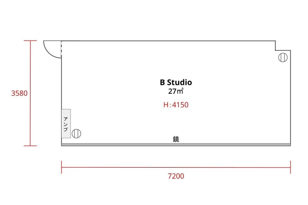 ★高田馬場最安値★ おしゃれスペースでダンス、スポーツ、撮影 |27㎡|24h|【B studio】 の写真