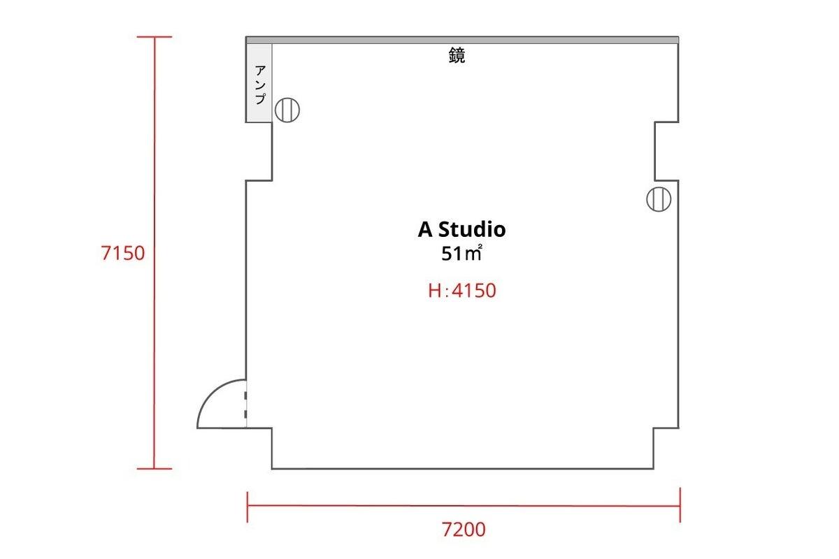 ★駅から30秒!広々スペースでダンス、スポーツ、撮影 |51㎡|24h|【in the house - A studio】 の写真
