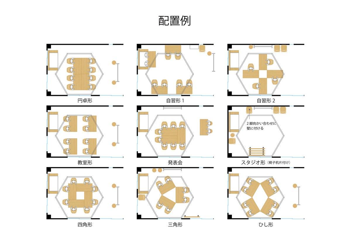 自然光|飯田橋徒歩5分・神楽坂10分|完全貸切|貸会議室・飲み会・勉強会・撮影|Wi-Fi他オフィス設備/Sabori の写真